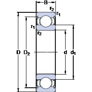 120 mm x 215 mm x 40 mm  SKF 6224-2Z roulements rigides à billes