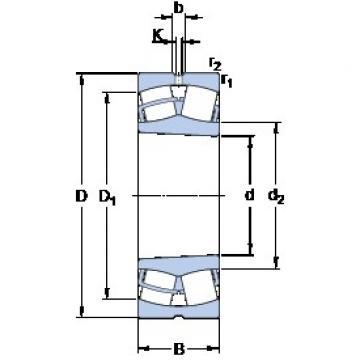 360 mm x 540 mm x 180 mm  SKF 24072 CCK30/W33 roulements à rouleaux sphériques