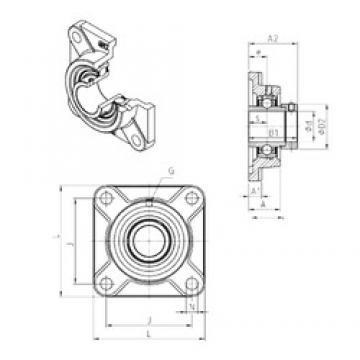 SNR EXF308 unités de roulement