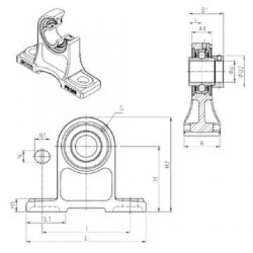 SNR EXPH210 unités de roulement