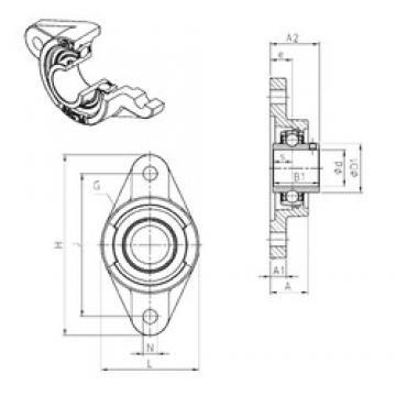 SNR UCFL218 unités de roulement