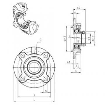 SNR ESFC208 unités de roulement