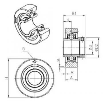 SNR EXC204 unités de roulement