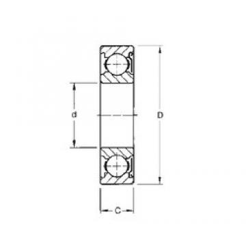 20 mm x 42 mm x 12 mm  Timken 9104KD roulements rigides à billes