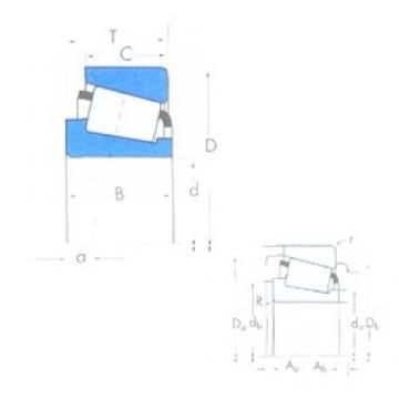 76,2 mm x 161,925 mm x 48,26 mm  Timken 755/752 Roulements à rouleaux coniques