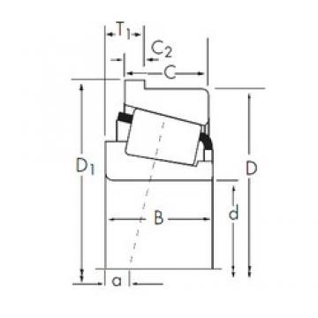 88,9 mm x 190,5 mm x 57,531 mm  Timken 855/854-B Roulements à rouleaux coniques