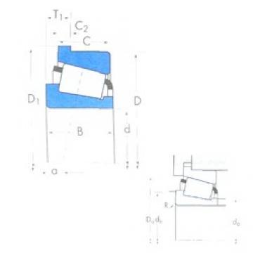 84,138 mm x 171,45 mm x 46,038 mm  Timken 9386H/9321B Roulements à rouleaux coniques