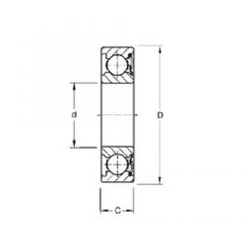 65 mm x 100 mm x 18 mm  Timken 9113P roulements rigides à billes