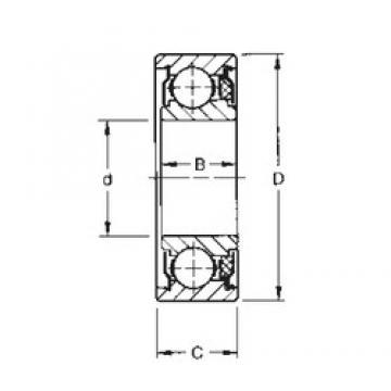 15 mm x 35 mm x 12,19 mm  Timken 202KTD roulements rigides à billes