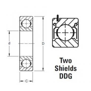 20 mm x 42 mm x 12 mm  Timken 9104KDDG roulements rigides à billes
