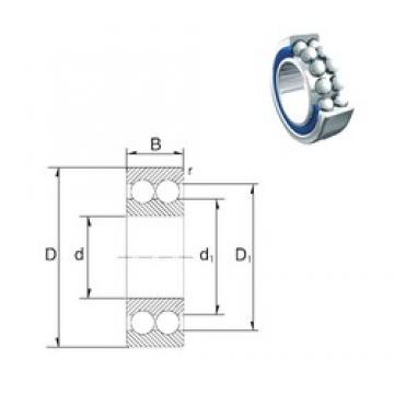 25 mm x 37 mm x 10 mm  ZEN 3805-2Z roulements à billes à contact oblique