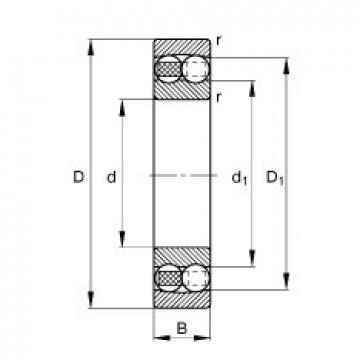 80 mm x 140 mm x 26 mm  FAG 1216-TVH roulements à billes auto-aligneurs