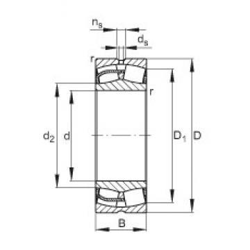 200 mm x 310 mm x 109 mm  FAG 24040-E1 roulements à rouleaux sphériques