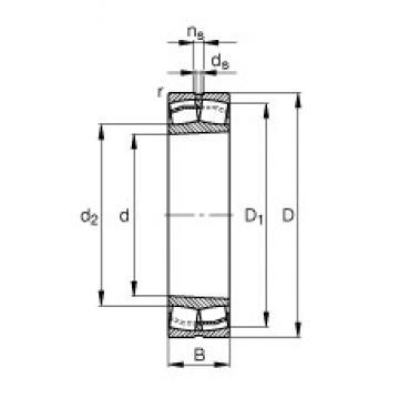45 mm x 100 mm x 36 mm  FAG 22309-E1-K-T41A roulements à rouleaux sphériques