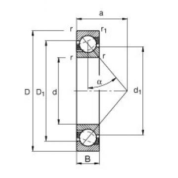 30 mm x 55 mm x 13 mm  FAG 7006-B-TVP roulements à billes à contact oblique