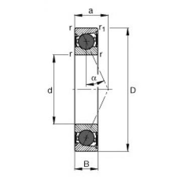 75 mm x 115 mm x 20 mm  FAG HCB7015-E-2RSD-T-P4S roulements à billes à contact oblique