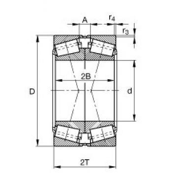 FAG 31316-N11CA Roulements à rouleaux coniques