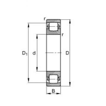 50 mm x 90 mm x 20 mm  FAG 20210-TVP roulements à rouleaux sphériques
