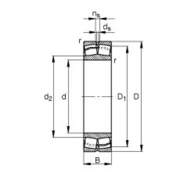80 mm x 170 mm x 39 mm  FAG 21316-E1 roulements à rouleaux sphériques