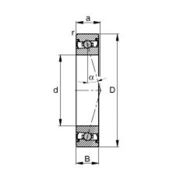 25 mm x 42 mm x 9 mm  FAG HCS71905-C-T-P4S roulements à billes à contact oblique