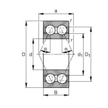 45 mm x 85 mm x 30,2 mm  FAG 3209-BD roulements à billes à contact oblique