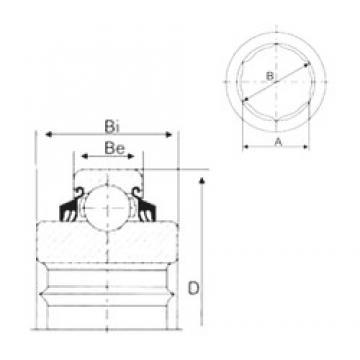 20,24 mm x 47 mm x 20,96 mm  CYSD 204KPP2 roulements rigides à billes
