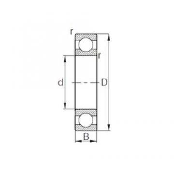 30 mm x 55 mm x 13 mm  CYSD 6006 roulements rigides à billes