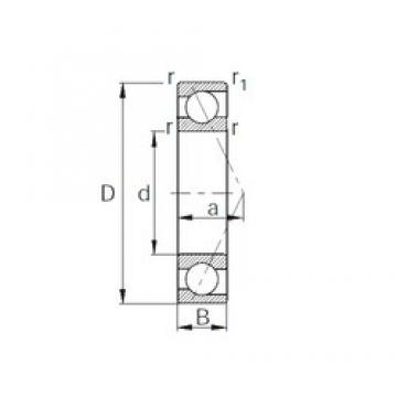 30 mm x 42 mm x 7 mm  CYSD 7806C roulements à billes à contact oblique