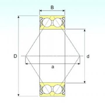 40 mm x 90 mm x 36,5 mm  CYSD 5308ZZ roulements à billes à contact oblique