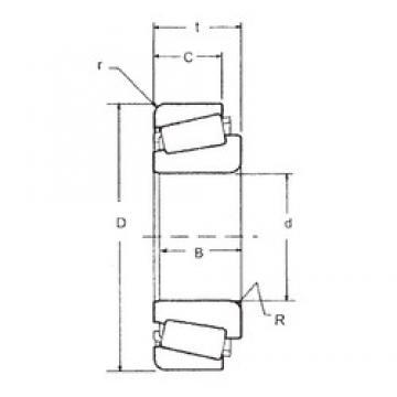 41,275 mm x 95,25 mm x 29,37 mm  FBJ HM804840/HM804810 Roulements à rouleaux coniques
