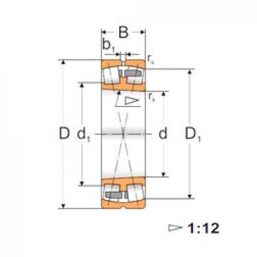 100 mm x 165 mm x 52 mm  FBJ 23120K roulements à rouleaux sphériques