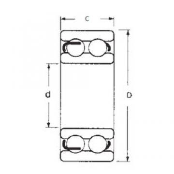 70 mm x 125 mm x 31 mm  FBJ 4214 roulements rigides à billes