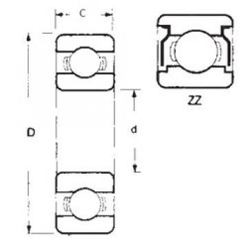 50 mm x 80 mm x 16 mm  FBJ 6010ZZ roulements rigides à billes