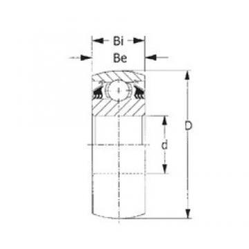 70 mm x 125 mm x 39,69 mm  CYSD W214PPB2 roulements rigides à billes
