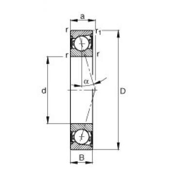 55 mm x 100 mm x 21 mm  FAG B7211-C-2RSD-T-P4S roulements à billes à contact oblique