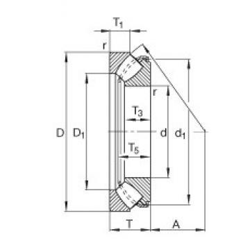 FAG 29456-E1 roulements à rouleaux de poussée