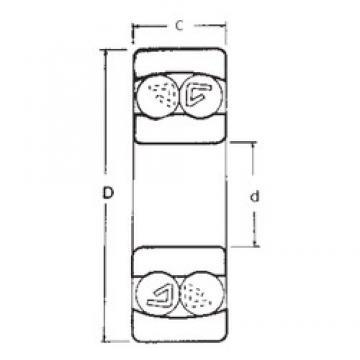 12 mm x 32 mm x 14 mm  FBJ 2201 roulements à billes auto-aligneurs