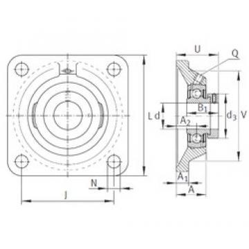 INA PCJ1-7/16 unités de roulement