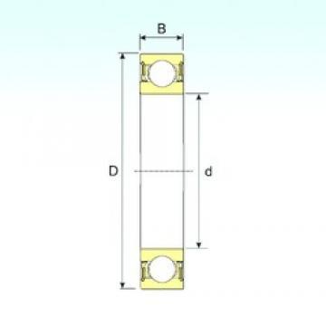 25 mm x 62 mm x 17 mm  ISB 6305-2RZ roulements rigides à billes