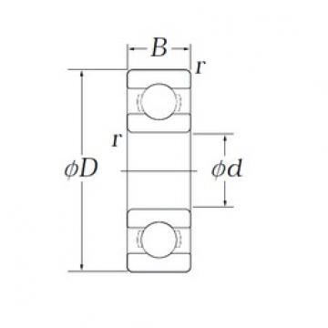 3,175 mm x 7,938 mm x 2,779 mm  KOYO OB75 roulements rigides à billes