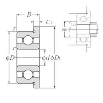 2 mm x 6 mm x 2,5 mm  NTN FLBC2-6 roulements rigides à billes