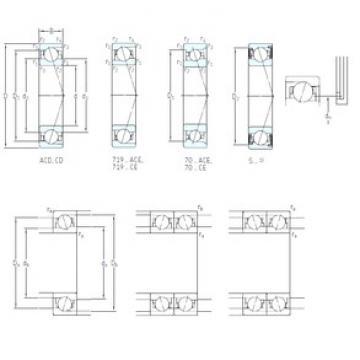 120 mm x 180 mm x 28 mm  SKF S7024 CE/P4A roulements à billes à contact oblique