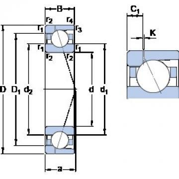 85 mm x 130 mm x 22 mm  SKF 7017 ACD/P4AH1 roulements à billes à contact oblique