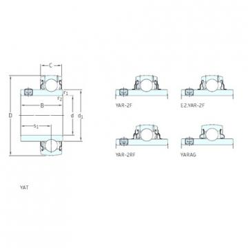 36,513 mm x 72 mm x 42,9 mm  SKF E2.YAR207-107-2F roulements rigides à billes