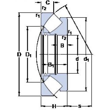 360 mm x 500 mm x 25 mm  SKF 29272 roulements à rouleaux de poussée