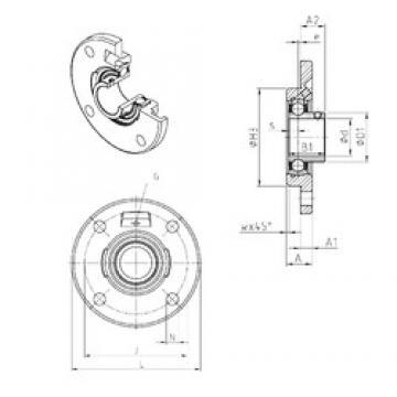 SNR USFCE211 unités de roulement