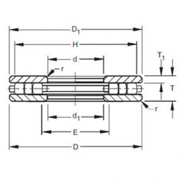Timken 50TP123 roulements à rouleaux de poussée
