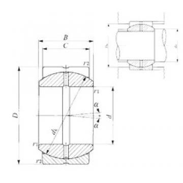 65 mm x 105 mm x 55 mm  IKO SB 65A paliers lisses