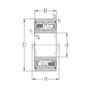 65 mm x 120 mm x 38,1 mm  NKE 3213-B-2Z-TV roulements à billes à contact oblique