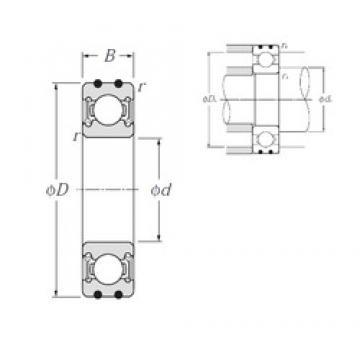 17 mm x 47 mm x 14 mm  NTN AC-6303LLU roulements rigides à billes